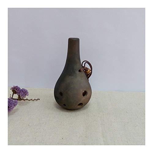 Allshiny Ocarina Ocarina 6 Botellas Agujero DE MUJERA Largo Ocarina Pedido C Tone Ocarina Ocarina Tin PROBINSCIS (Color : Gray)