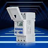 Akozon Temporizador Digital Carril DIN Digital 24 Horas / 7 Días Temporizador Enchufable Programable Pantalla LCD Relé Electrónico Programable Una Máquina para Múltiples Propósitos (AC220V)