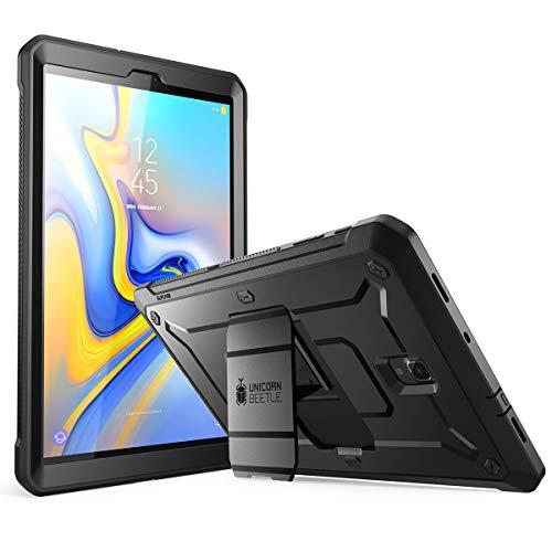 SUPCASE Hülle für Samsung Galaxy Tab A 10.5 2018 Schutzhülle 360 Grad Hülle Robust Cover [Unicorn Beetle Pro] mit integriertem Bildschirmschutz & Ständer (SM-T590 / T595 / T597) (Schwarz)