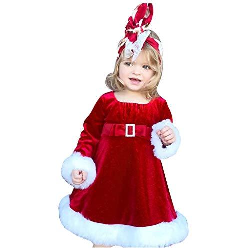 Vectry Navidad Vestido De Niñas Princesa Vestido Navidad Bebé Niñas Navidad Princesa Fiesta Vestido Trajes De VellóN Outfits Vestido De Tutú Flores Cumpleaños