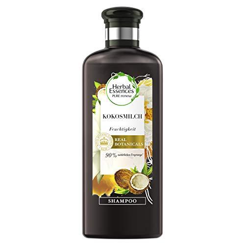 Herbal Essences PURE:renew Kokosmilch Feuchtigkeit Shampoo, 250 ml, Coconut Milk, Kokos, Haarpflege Glanz, Haarpflege Trockenes Haar, Aloe Vera, Haarpflege Für Trockene Haare, Shampoo Damen, Kokusnuss