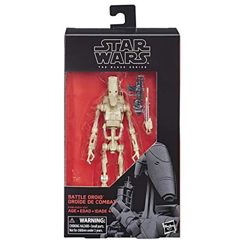 Star Wars The Phantom Menace: Black Series - Figura de Acción Battle Droid, Multicolor, 6'