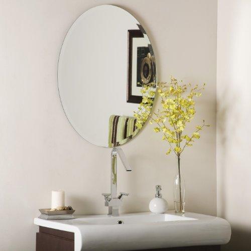 Decor Wonderland Odelia Oval Bevel Frameless Wall -
