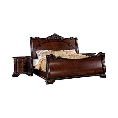 Find Bargain 247SHOPATHOME Basquiat 3 Piece Bedroom Set, Dark Walnut