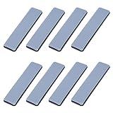 Pulluo 8pcs Deslizadores de Muebles Almohadillas para Mover Muebles Almohadillas de Teflón Protectores de Piso Deslizadores de Teflón para Silla Mesa Sofá (Rectángulo, 25mmx100mm)