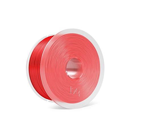 BQ Easy Go - Filamento PLA de 1.75 mm (100% PLA, resistente a la acetona, rápido endurecimiento) color rojo rubin