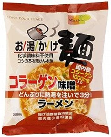 創健社 お湯かけ麺 コラーゲン味噌ラーメン 75g×5個      JAN:4901735021413