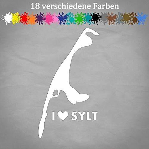 Sylt Aufkleber 20x11cm JDM Sand Style Auto Love Sylt Sticker Decal Insel Kleber in 18 Farben