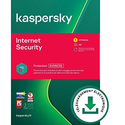 Kaspersky Internet Security 2021 | 1 Appareil | 1 An | Windows Mac Android | Code d'activation – Envoi par Email