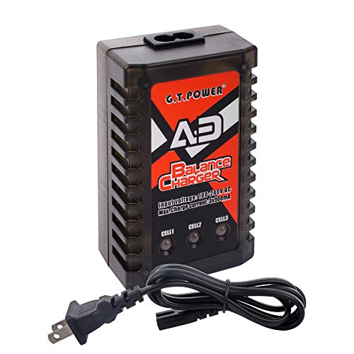 Price comparison product image G.T. Power A3 LiPo 2S-3S Battery Balancer Charger 7.4V-11.1V RC Compact Charger AC Input
