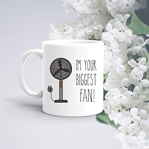 Ik ben je grootste fan mok grappige mokken hilarische Gag Jokes lacht novelty mok koffie thee sap Water Cup geschenken voor HimHerFriends
