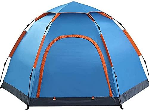 LCJD Tiendas de campaña, Tienda Hexagonal | 3-5 NPC Space Impermeable Camping Carpas Automáticamente | Adecuado para Acampar en Familia, Pescar, Hacer Picnic Toldo Impermeable