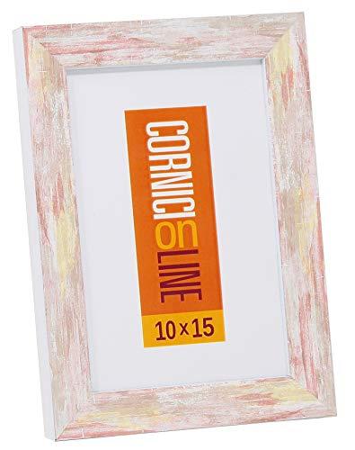 Cornice in Legno 220 Rosso Portafoto da Tavolo 20x20
