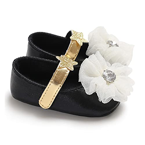 FURONGWANG6777BB Newborn Baby Girls Flowers Lace Bow Dance Party Shoes Niño Princess Calzado Primeros Caminantes (Color : A2, Size : 0-6 Months)