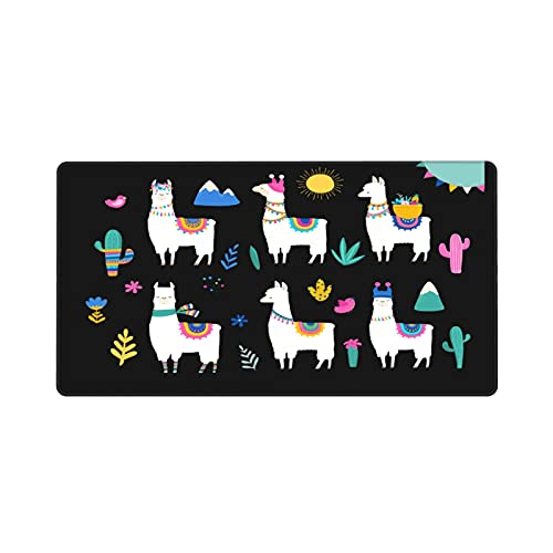 Cute White Llama Mouse Pad Gaming Large Mouse Pad 40 X 75 Inch Mouse Pad Non-Slip Natural Rubber Base , Laptop Computer Anime Mouse Pad