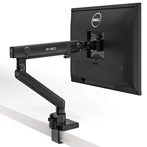 EVEO Single Monitor Arm Desk Mount - Adj...