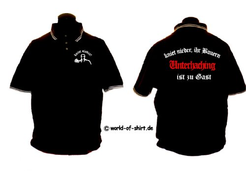 world-of-shirt Herren Polo Shirt Unterhaching Ultras kniet nieder
