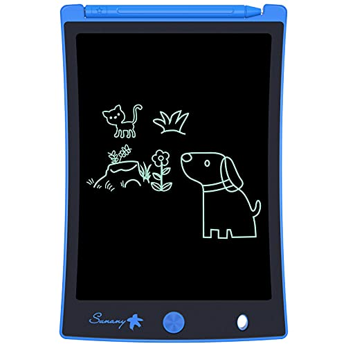 LCD Writing Tablet,Electronic Writing &Drawing Board Doodle Board,Sunany 8.5  Handwriting Paper Drawing Tablet Gift for Kids and Adults at Home,School and Office, Blue