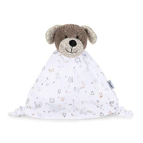 Sterntaler Kuscheltuch Hund Hanno, Alter: Für Babys ab dem 1. Monat, Größe: 30 cm, Farbe: Braun/Weiß