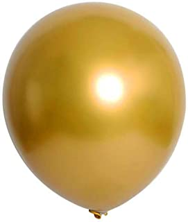 Razab1 Balloons for Party Birthday 50 Pcs Latex Metallic Balloons Thicken Round Metallic Pearlescent Latex Multicolor Ball...