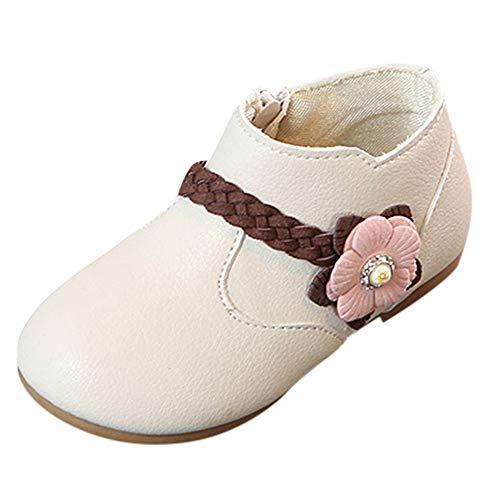 Fenverk Originals Unisex-Kinder Sneakers Bernie Jungen Hallenschuhe Kinder Brogues MäDchen Sneaker Schuhe Canvas Lauflernschuhe(Beige,22 EU)