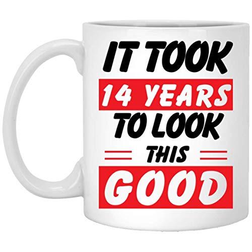 NA Me tomó 14 años lucir Esta Buena Taza de café con Leche de 11 oz