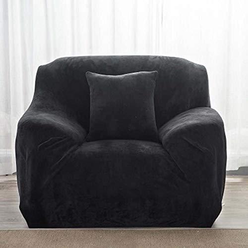 ANQI fundas de sofá de felpa gruesa y cálida funda protectora de sofá de terciopelo fácil de limpiar, tela suave, elástica lavable para invierno, tamaño universal