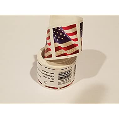 USPS US Flag 2017 Forever Stamps - Roll of 100