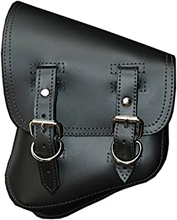 La Rosa Harley-Davidson Softail & Rigid Chopper Black Leather Left Swing Arm Saddlebag