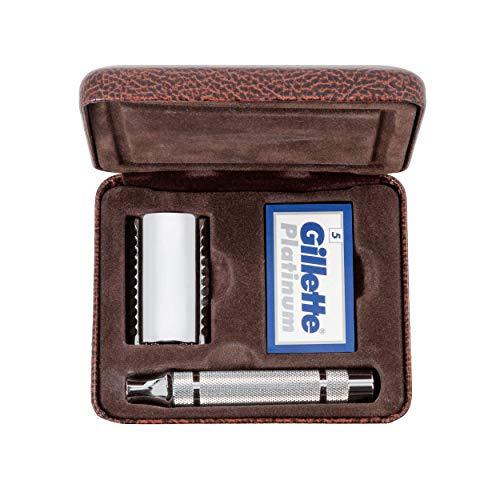 Gillette Heritage Double Edge Shaving Razor Kit for Men