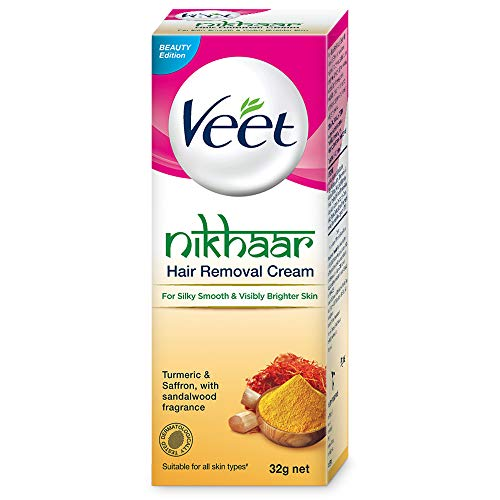 Veet Nikhaar Hair Removal Cream for All Skin Types - 32g