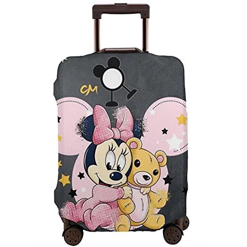 Custodia protettiva per valigia, motivo: Topolino Minnie, lavabile con stampa 3D, 4 misure per la maggior parte dei bagagli, con cerniera