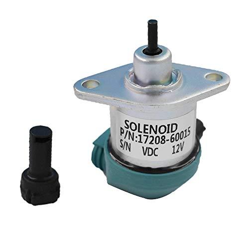 labwork Fuel Shut Off Solenoid for Kubota D905 D1005 D1105 17208-60010 17208-60015