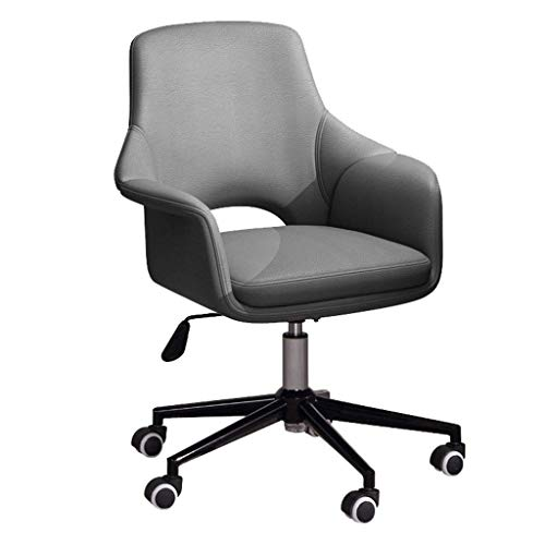 N/Z Daily Equipment Chaise Office Chair for Home Velvet Desk Chair Swivel Computer Chair Height Adjustable Ergonomic Chair and Comfortable to Reduce Fatigue Silent Casters(Grey) Yellow