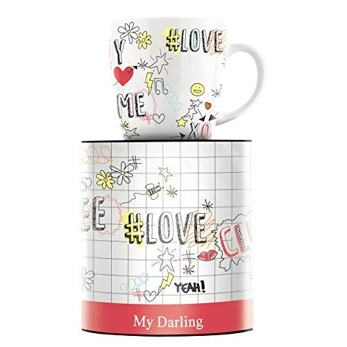 RITZENHOFF My Darling Kaffeebecher von Concetta Lorenzo, aus Porzellan, 300 ml, mit trendigen Motiven