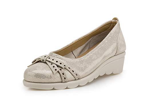 The FLEXX Bootjack Zapato Mujer Oro Claro Beige 37