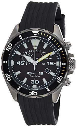 Citizen Herren Analog Quarz Uhr mit Kunststoff Armband AT2437-13E
