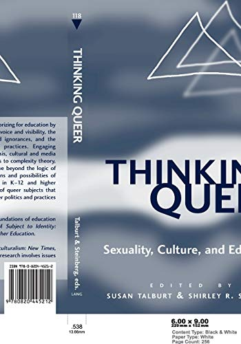 Thinking Queer Sexuality Culture And Education Counterpoints
