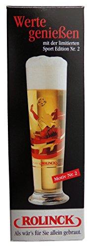 Rolinck Brauerei - Limitierte Sport Edition Motiv 2 - Fußball - Bierglas 0,2 l.
