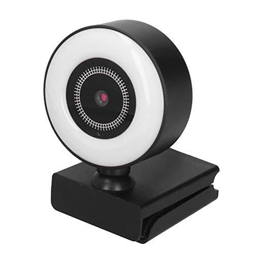 USB Computer Webcam with Light Microphone, 1080P HD Digital USB Web Camera Streaming Transmission Free Drive