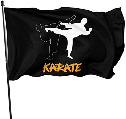 Oaqueen Flagge/Fahne, Black White Karate Home Garden Yard Flags 3 X 5 Feet Pennants Indoor Outdoor Fall Flags Wall Banners Decoration