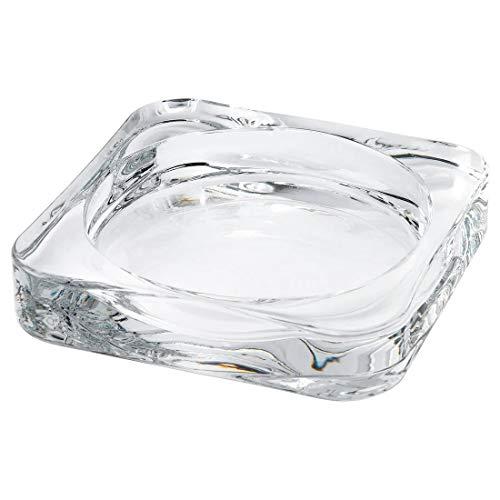 IKEA(イケア)GLASIG キャンドル皿, クリアガラス 90290137 10x10 cm 1枚