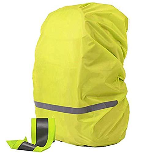 OOKOO - Funda impermeable y reflectante para mochila, verde (Verde) - OOKOO-BAGCASE-GREEN-XS