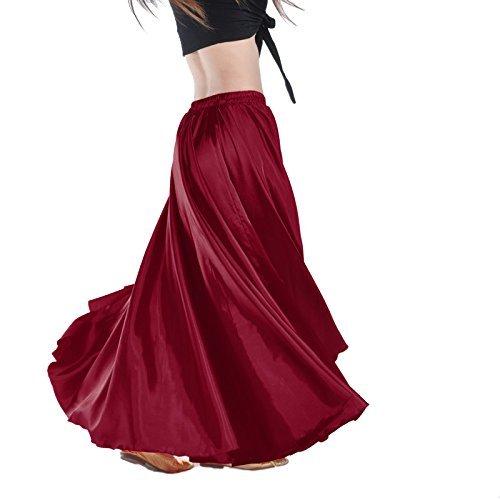 Gonna Calcifer per danza del ventre, lunga, in raso, da donna, per costumi e danzatrici...
