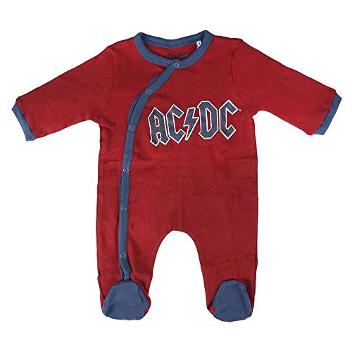 Artesania Cerda Pelele Interlock ACDC, Rojo (Rojo C06), 3m Unisex bebé
