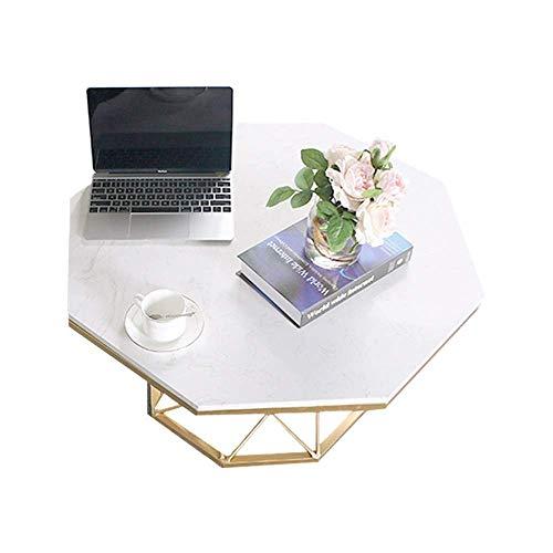 NBVCX Möbel Dekoration Marmor Finish Beistelltisch Kaffee/Tee Beistelltisch Sofa Tisch für kleinen Raum Snack Tisch für Wohnzimmer und Balkon 23.6''x17.7 ''