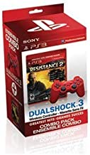 PlayStation 3 DualShock Red Wireless Controller with PS3 Resistance 2