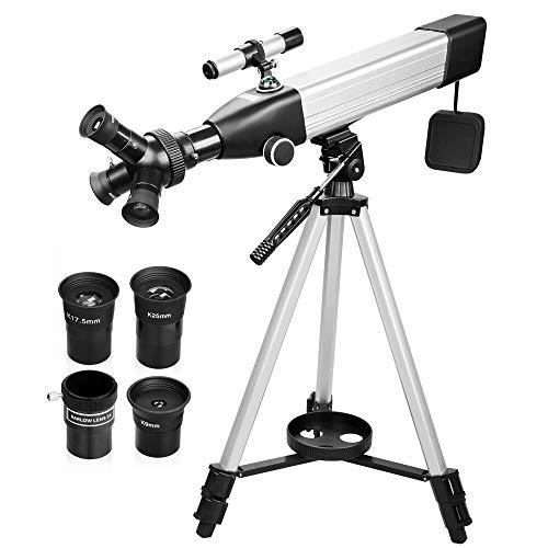 QUNSE 167X Refractor Telescope 500x60mm with Smartphone Adapter/Handbag (B)