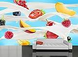 3D-Hintergründe - Fruit Milk Splash Bild Wallpaper Fototapete Dekorpapier Poster Kostenlose Pasta