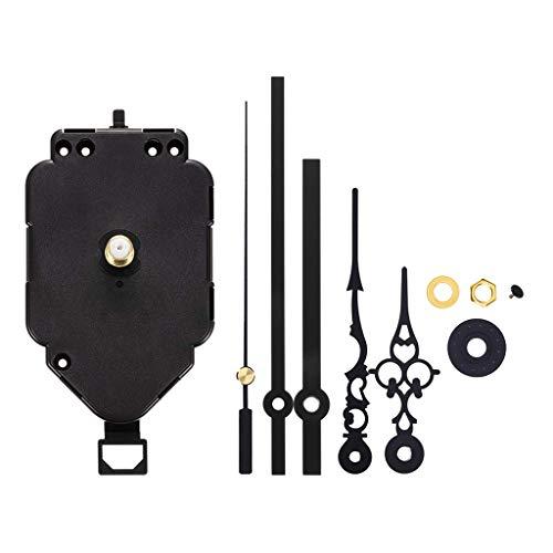 non-brand 1 Set Kit Motore Meccanismo di Movimento Orologio A Pendolo al Quarzo di Ricambio con Gancio Appendiabiti